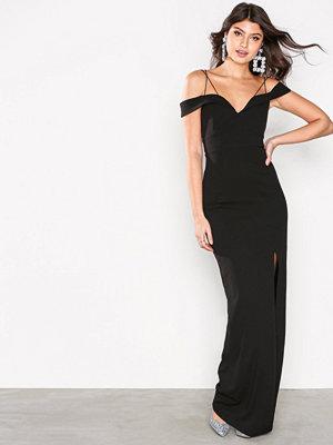 Ax Paris Long Off Shoulder Dress Black