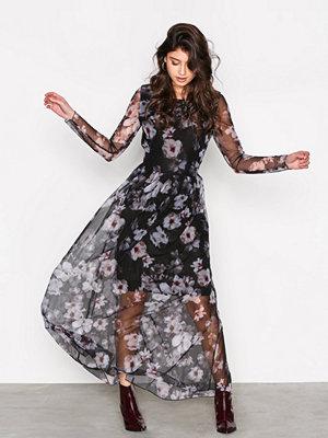 Selected Femme Sfsunna Ls Mesh Dress Ex Svart