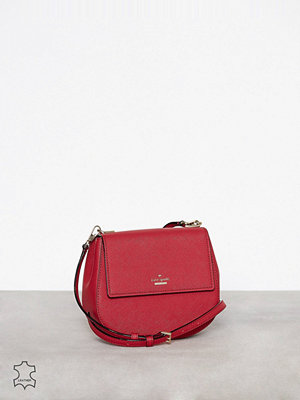 kate spade new york röd axelväska Small Byrdie Rosso