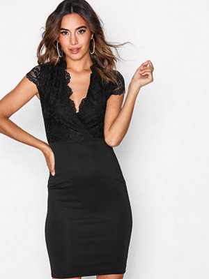 NLY One Wrap Lace Bodycon Svart