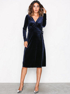 Vero Moda Vmbeaven L/S Wrap Dress no Exp Mörk Blå