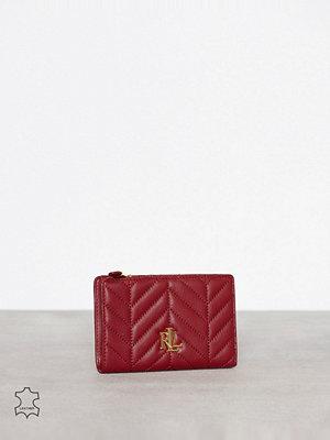 Plånböcker - Lauren Ralph Lauren New Compact Wallet Röd