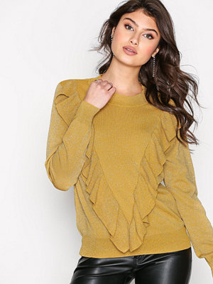 Selected Femme Sfagnes Ls Knit O-Neck Rt Mörk Gul
