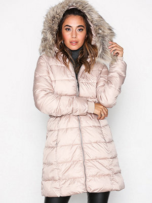 New Look Belted Puffer Jacket Light Beige