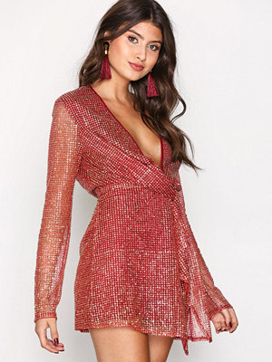 Missguided Twist Front Dress Red