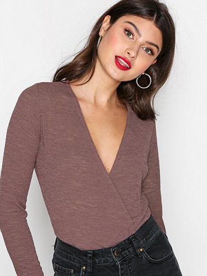 NLY Trend Dried Up Wrap Top Rosa