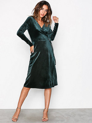Vero Moda Vmbeaven L/S Wrap Dress no Exp Grön