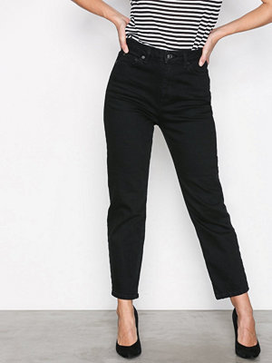 Topshop Black Straight Jeans Black