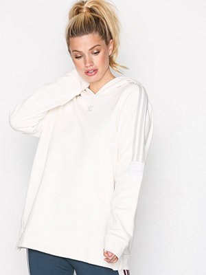 Street & luvtröjor - Adidas Originals Adibreak Hoodie Vit
