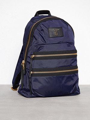 Marc Jacobs omönstrad ryggsäck Backpack Blå