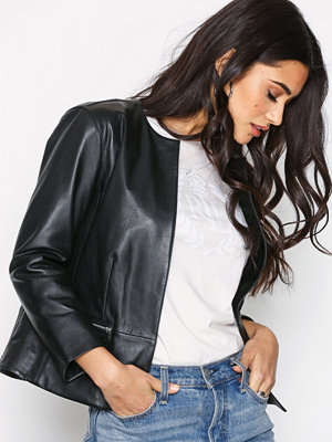 Lauren Ralph Lauren Macon Leather Jacket Black