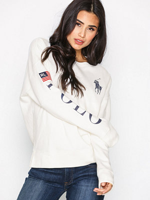 Polo Ralph Lauren Graphic Crew Neck Fleece Knit White