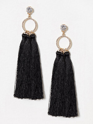 River Island örhängen Ring Triple Tassel Drops Metal