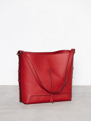 Topshop Asymmetric Hobo Bag Red