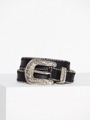New Look Pearl Trim Western Belt Black