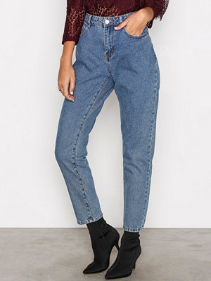 Noisy May Nmtaylor Hw Ankle Jeans 8B Blå