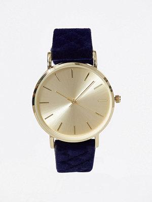 New Look Velvet Strap Watch Navy
