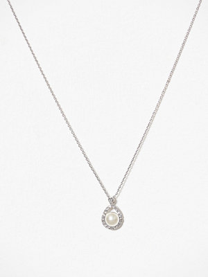 Lily and Rose halsband Emmylou Pearl Necklace Silver/Creme