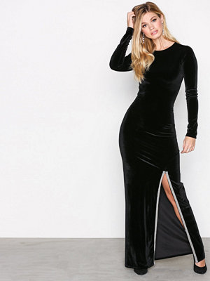 NLY Trend Brilliant Slit Maxi Dress Svart