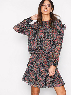 Hunkydory Floral Tie Dress Navy