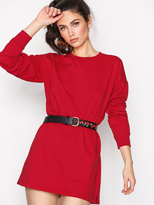 Missguided Sweater Dress Red