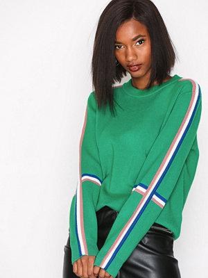 Vero Moda Vmdamara Banning Ls O-Neck Blouse Mörk Grön