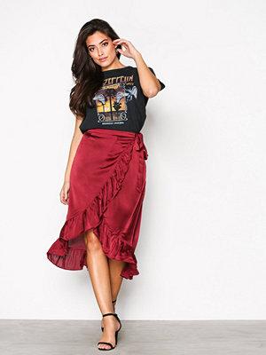 Vero Moda Vmhenna Shine Wrap Blk Skirt Exp Mörk Lila