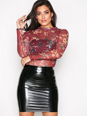 NLY One Patent Short Skirt Svart