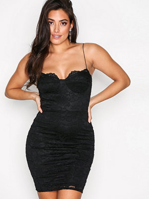 NLY One Lace Bodycon Dress Svart