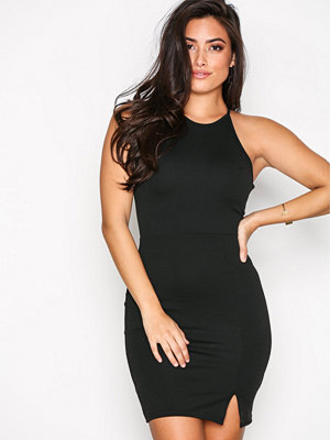 Missguided 90's Neck Mini Dress Black