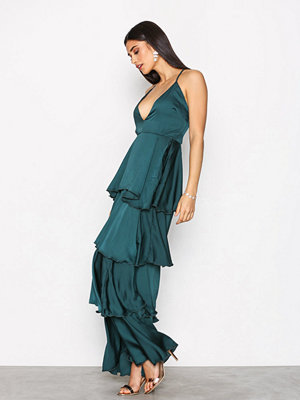 Missguided Strappy Layered Dress Green