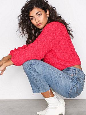 Only onlPOPLINA L/S Pullover K Pink