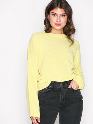 NLY Trend Chenille Perfect Knit Ljus Gul