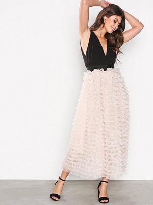 TFNC Aleena Maxi Dress Svart/Beige