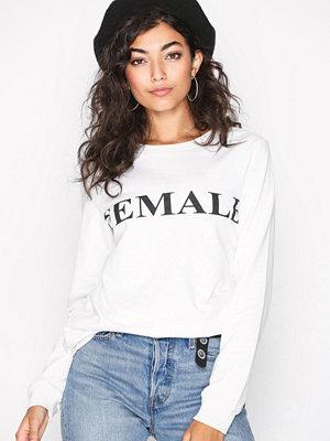 Vero Moda Vmnewfemme L/S Sweatshirt D2-1 Vit