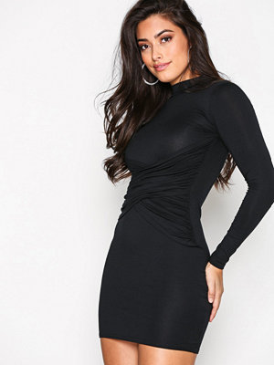 Missguided High Neck Dress Black