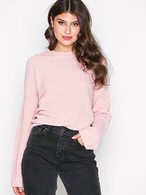 NLY Trend Chenille Perfect Knit Ljus Rosa