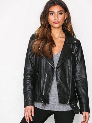 Vero Moda Vmmountain Leather Jacket Svart