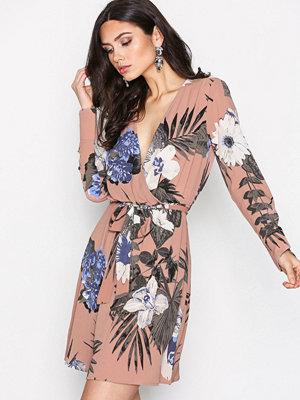 Y.a.s Yasyrsa Ls Wrap Dress Rosa