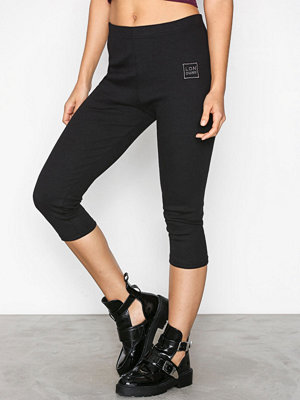 Missguided Ribbed Leggings Black