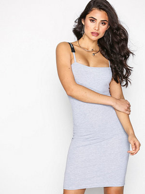 Missguided LONDUNN Square Neck Bodycon Dress Grey