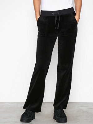 Juicy Couture svarta byxor Velour Del Rey Pant Pitch Black