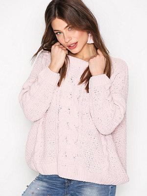 New Look Cable Knit Jumper Ljus Rosa