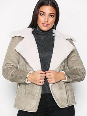 New Look Faux Shearling Jacket Mink