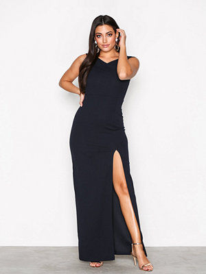 Ax Paris Cross Bardot Maxi Dress Navy