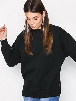 New Look Slouchy Side Split Sweat Black