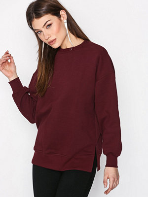 New Look Slouchy Side Split Sweat Wine