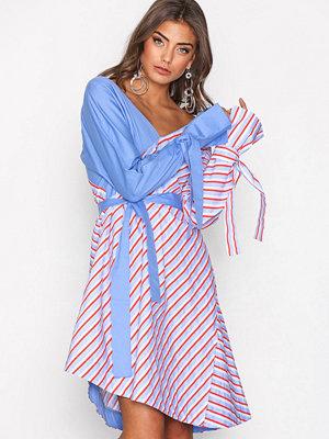 NLY Trend Shirt Mix Dress Blå