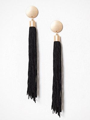 New Look örhängen Disc Tassel Earrings Black