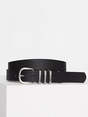Bälten & skärp - Pieces Pclea Jeans Belt Noos Svart